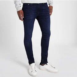 Mens Blue Stretch Jeans