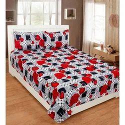 Multicolor Fancy Cotton Double Bed Sheet