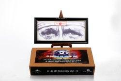 Brown Wood Netra Arts Shirdi Sai Baba Blessing Eyes Photo Frame, For Gift