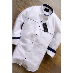 Mark Me Collar Neck Mens Designer Cotton Shirt