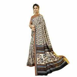 Beige Colored Pashmina Casual Saree