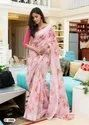 LT Saree Flora Soft Linen Printed Saree