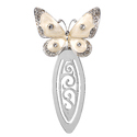 Silver-Plated Stylish Butterfly Bookmark