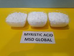 Granules & Crystals Myristic Acid 98%, Packaging Type: Paper Bags Or Polythelene Bags