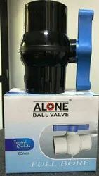 PP Quality Black and White Agriculture Ball Valve , Size: 1/2 to 4 inch