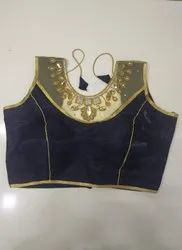 Midnight Blue Handwork Blouse