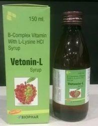 Vetonin-L Syrup B-complex Vitamin With L- Lysine HCL Syrup, Grade Standard: Medicine Grade