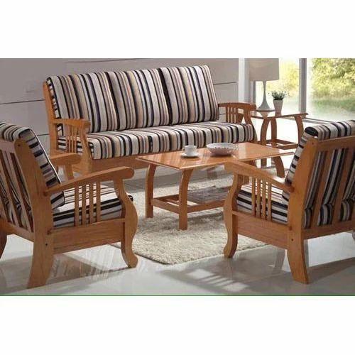 Leather Sofa Set Designs With Price In Chennai: Teak Wooden Modern Sofa Set At Rs 23000 /set
