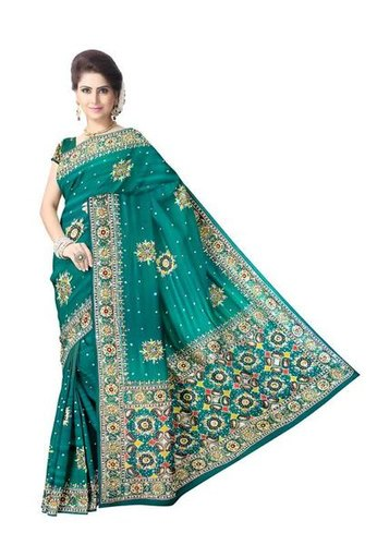 Kundan Work Design Gaji Silk Bandhani Saree