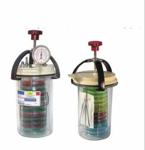 Plastic Anaerobic Culture Jar, Capacity: 3.5 Litre