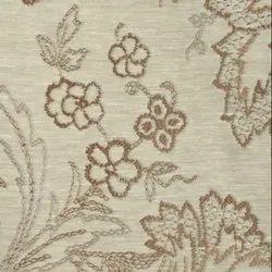 54 inch Chocolate Big Flower Curtain Fabric
