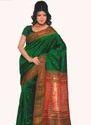 Dark Green Paithani Saree