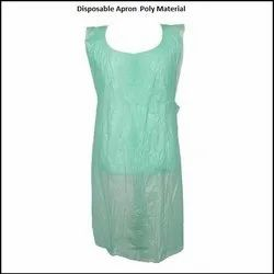 PE Green Disposable Apron, Size: FREE Size