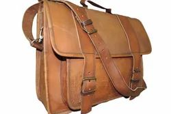 Genuine Leather Laptop Shoulder Bag