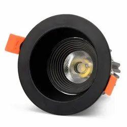 FOS LED COB Spot Light 10W, 1100 LUMENS - All Black Recessed Ceiling Lamp (6500k - 4000k - 2700k)