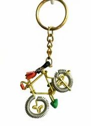 Bicycle Key Chain Antique Key Ring