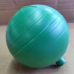 Green PVC floating ball, Size: 4