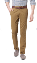 Peter England Khaki Men Trousers