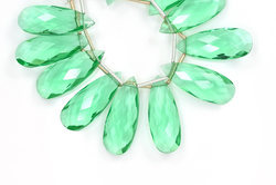 Fluorite Quartz Pear Beads