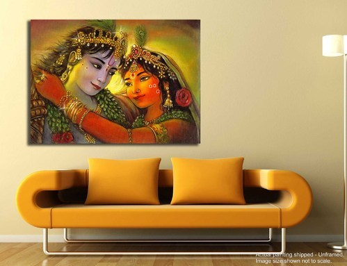 Canvas Printed Religious - Hindu God Paintings, Shape: Rectangle And Square