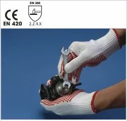 10G/PC/L/PVC Seamless Knitted Polyamide Gloves
