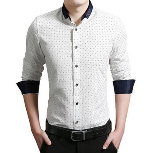 b62cf64844b Cotton Mens White Party Wear Shirt