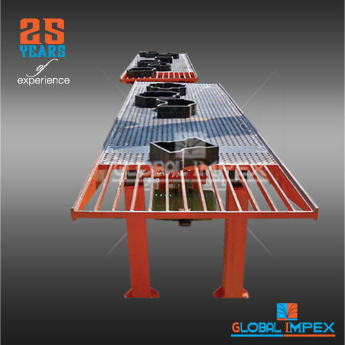 GLOBAL Hydraulic Pressure Vibro Table Paver Block Machine, Automation Grade: Semi-Automatic, for Road Construction Work