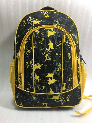 Polyester Yellow Fancy School Bag
