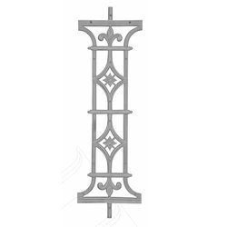Cast Iron Balcony Railing Pillar