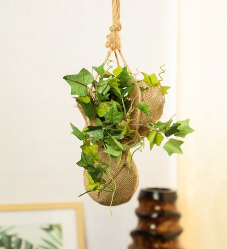 Green Artificial Hanging Bonsai In Jute Bag Rs 900 Piece Pollination World Decorative Pvt Ltd Id 22190445648
