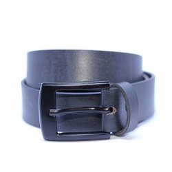 Blue Dull Leather Belt