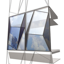 Reflective Glass for Building Construction, Size: Standard