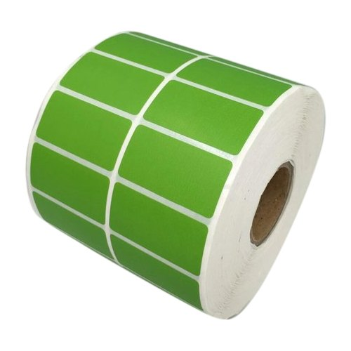 Laminated Paper Green Blank Barcode Stickers, Packaging Type: Roll