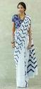 Ladies White Printed Saree