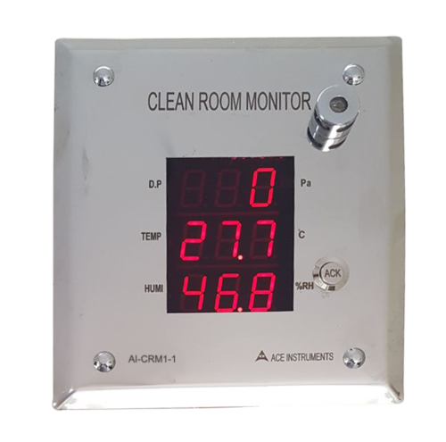 ACE Instruments Clean Room Monitor (AI-CRM1-1), Size: 115(w) X 150(h) X 40(d) Mm