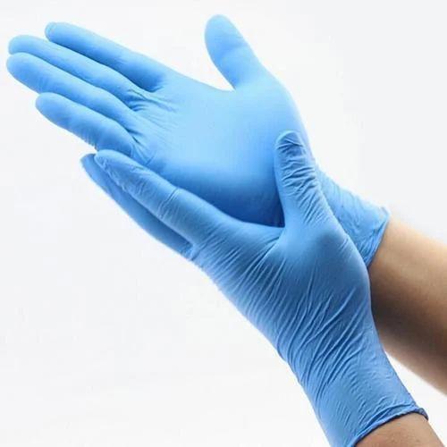 Blue latex gloves india