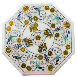 Marble Antique Style Stone Inlaid Table Top