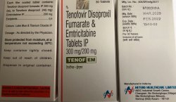 Tenof EM Tab (Emtricitabine & Tenofovir Disoproxil Fumurate)