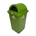 Green Plastic Nilkamal Out Door Dustbin