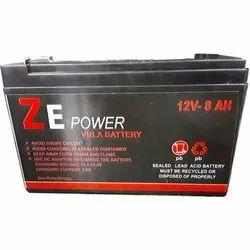 Ze Power VRLA Battery, 12v- 8ah