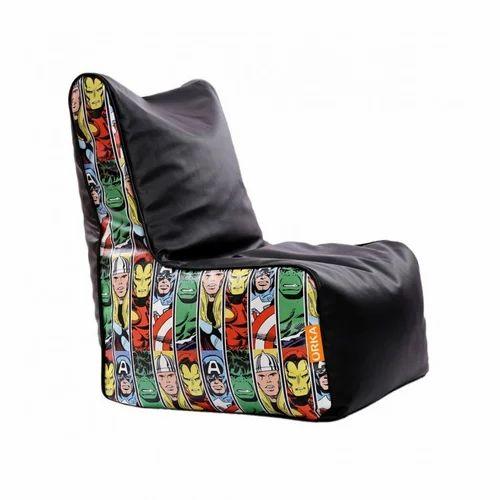 Pleasant Avenger Theme Bean Chair Customarchery Wood Chair Design Ideas Customarcherynet