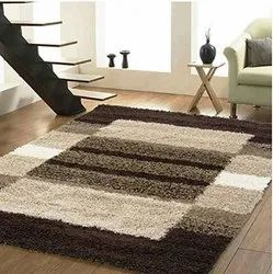 GLOBAL HOME Polyester Bedroom Shag Carpet for hall, For Indoor, Packaging Type: Packet