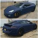 matte dark blue car Wraps