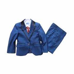 Blue Cotton Kids Suit