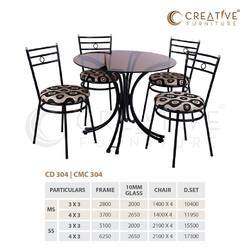 MS And Also Available In SS 4 Seater Steel Dining Table