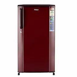 Electricity Burgundy Red Haier Refrigerator, 208 W, Capacity: 170 Liter