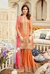 Unstitched Chiffon Premium Embroidered Pakistani Suits