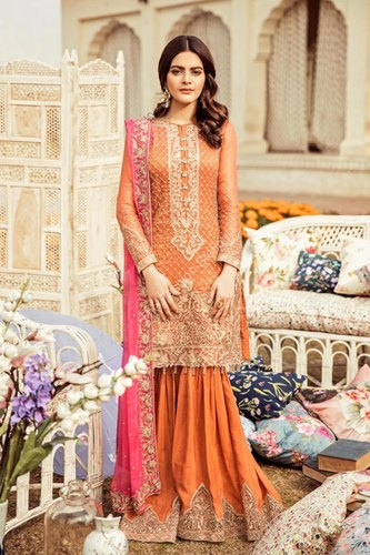46c0912aa2 Unstitched Chiffon Premium Embroidered Pakistani Suits, Rs 4300 ...