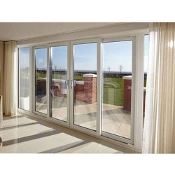 Toughened Glass UPVC Balcony Sliding Door, 5-20 Mm