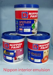 Emulsion White Nippon Paint Satin Glow for Home, Packaging Type: Can
